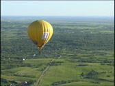 View from a basket on a balloon Stock Footage