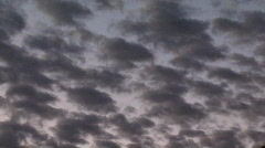 Clouds fade to black Stock Footage