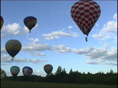 Balloons fly up Stock Footage