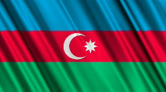Azerbaijan Flag Loop 01 Stock Footage