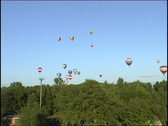 Balloons in the sky Stock Footage