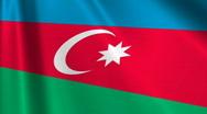 Azerbaijan Flag Loop 03 Stock Footage