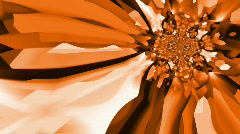 Kaleidoscopic orange and brown abstract background - Loopable - Animation  - stock footage