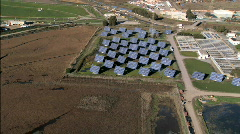 Aerial view of Solar Power Plant - stock footage