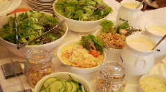 Salad Buffet Stock Footage