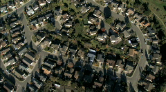 Aerial view of Suburban Rooftops - stock footage