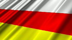South Ossetia Flag Loop 02 Stock Footage