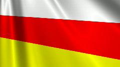South Ossetia Flag Loop 03 Stock Footage