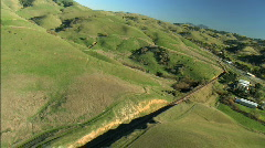 Aerial view of clean beautiful rolling hillside Stock Footage