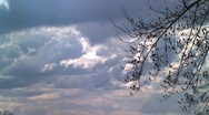 Stock Video Footage of timelapse of clouds rolling in
