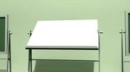 T171 revolving chalkboard education educational Stock Footage