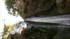 Waterfalls NC Vertical 02 Loop Stock Footage