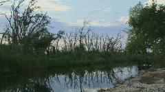 Dusk Lousiana Bayou Scenic Stock Footage