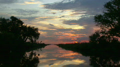 Bayou Sunset Time Lapse - Louisiana - 01 Stock Footage