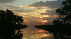 Bayou Sunset - Louisiana - 02 Stock Footage