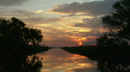 Stock Video Footage of Bayou Sunset - Louisiana - 02