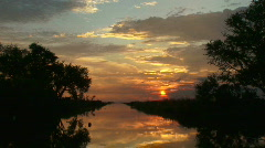 Bayou Sunset - Louisiana - 03 - stock footage