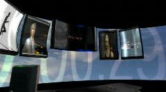 Empty Virtual News Set 2 Stock Footage