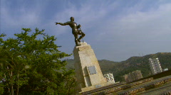Sebastian de Belalcazar's Statue - Cali, Colombia Stock Footage