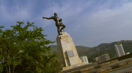 Stock Video Footage of Sebastian de Belalcazar's Statue - Cali, Colombia