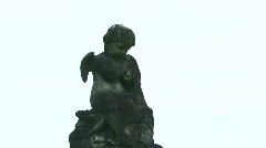 Cemetery Angel Statue - 02 Stock Footage