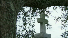 Cemetery Grave Crosses - 03 Stock Footage