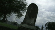 Stock Video Footage of Cemetery Graves Cloud Time Lapse - 02