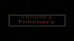 Loopable monthly calendar floating in space  Stock Footage