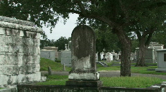 Cemetery Graves - 08 Stock Footage