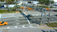 Busy intersection - tilt shift - stock footage