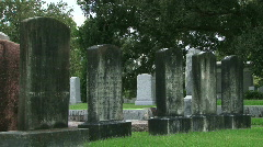 Cemetery Graves - 09 Stock Footage