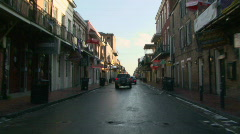 French Quarter, New Orleans Driving 03 Stock Footage