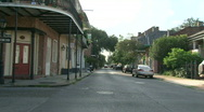 French Quarter, New Orleans Driving 07 Stock Footage