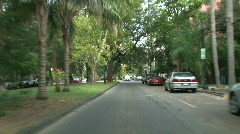 Garden District, New Orleans Driving 01 Stock Footage