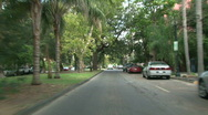 Stock Video Footage of Garden District, New Orleans Driving 01