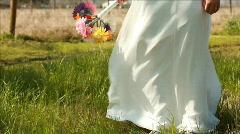 Tilt up new bride flowers Stock Footage