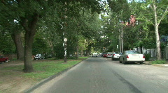 Garden District, New Orleans Driving 02 Stock Footage