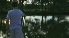 Pond Fishing - 05 Stock Footage