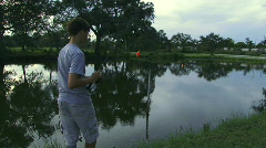 Pond Fishing - 14 Stock Footage
