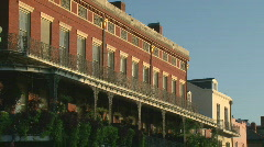 French Quarter, New Orleans French Architecture - - stock footage