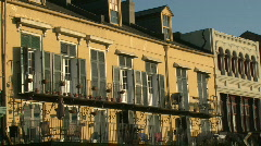 French Quarter, New Orleans French Architecture - 02 Stock Footage