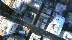 Aerial View of City Skyscrapers Stock Footage