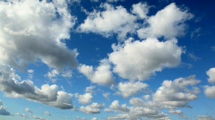 Day sky with cumulus clouds Stock Footage