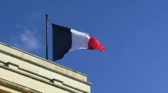 LS, Flag of France in wind Stock Footage