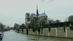 Time laps, WS, Notre Dame, Paris, France Stock Footage