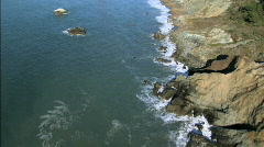 Aerial view of  Golden Gate Bridge & Coastline Stock Footage