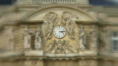 ZO Clock at Palais Du Luxembourg, Zoom out Stock Footage