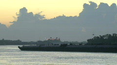 Ships Tugboats during Sunrise in New Orleans - 14 Stock Footage