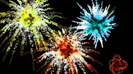 Colorful explosion sparklers background Stock Footage