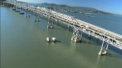 Aerial View of Bridge Construction Stock Footage